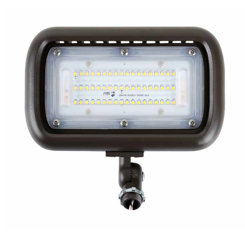 50W Equal LED Flood Light with Knuckle Mount - FS-50-BRZ-KM