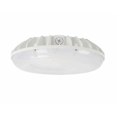 250W Equal Round LED Parking Garage Light 60W 7600 Lumens White