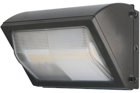 LED Wall Pack - Forward Throw - Bronze - Glass Lens