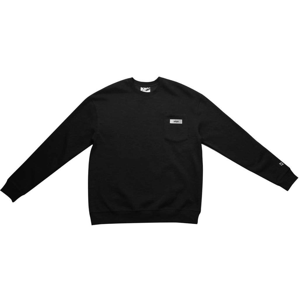 WANAB Logo Sequin Sweater - Black