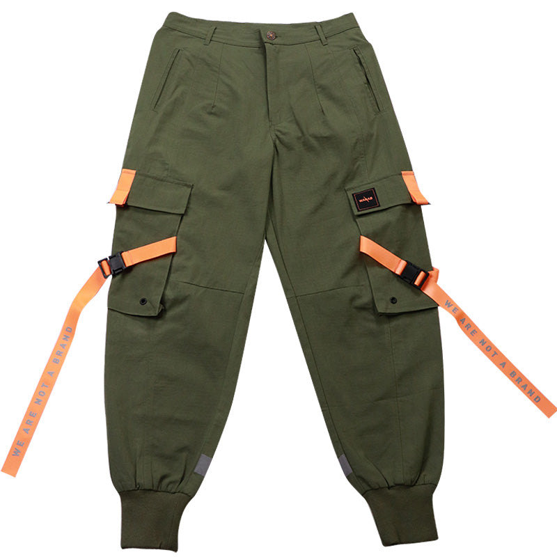 WANAB Reflective Logo Pocket Cargo Pants - Green