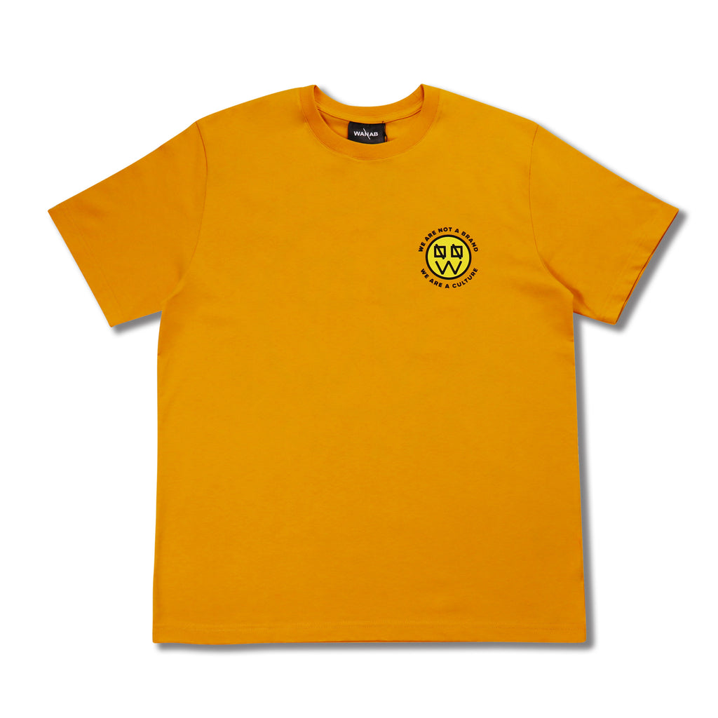 WANAB Motif Smiley Face Tee - Yellow