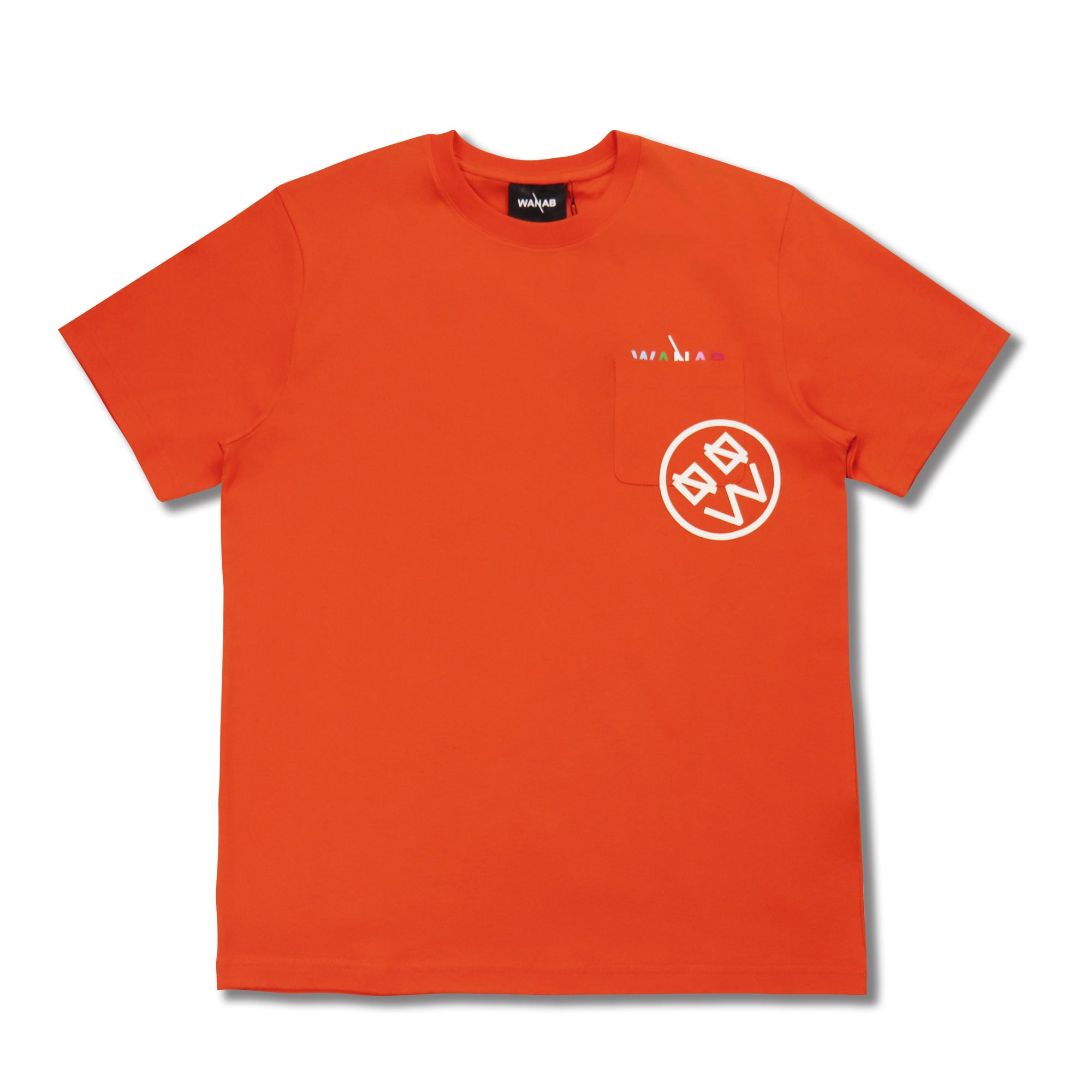 WANAB Glow In The Dark Smiley Face Tee - Orange