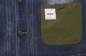 WANAB Reflective Logo Denim Jacket - Blue