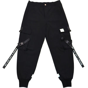 WANAB Reflective Logo Pocket Cargo Pants - Black