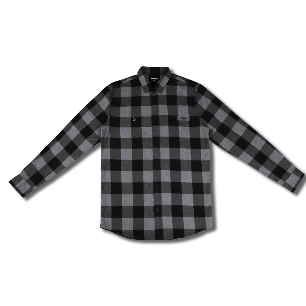 WANAB Checkered Shirt - Black