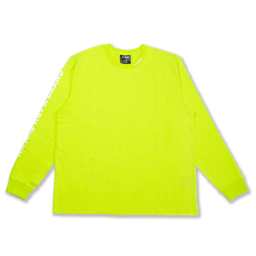 WANAB Slash LS Tee - Neon Green