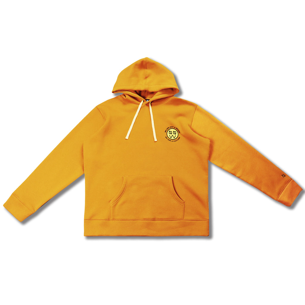 WANAB Motif Smiley Face Hoodie - Yellow