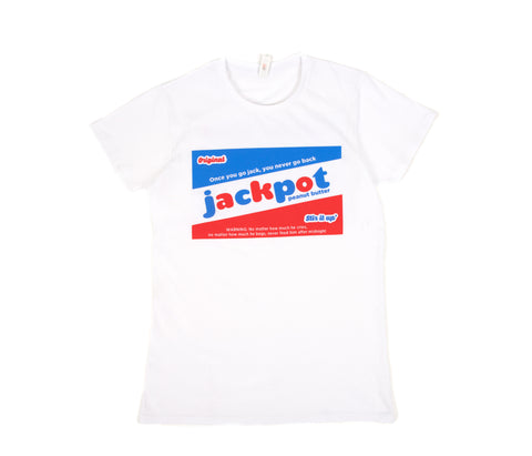 original Jackpot peanut butter white T-shirt