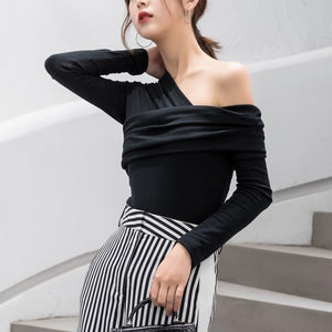 Sexy Off Shoulder Women's Long Sleeve Top