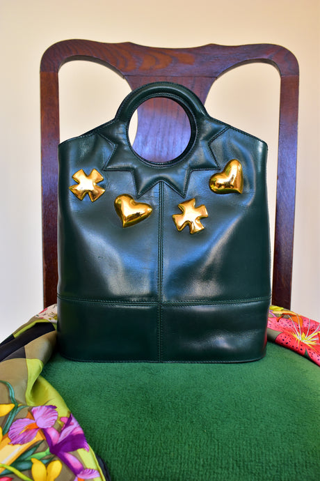 Vintage Christian Lacroix Leather Handbag - Rianna In Berlin