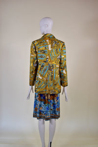 Hermes Golden Embroidery Blazer - Rianna In Berlin