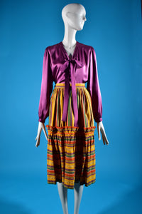 Vintage Yves Saint Laurent Midi Skirt - Rianna In Berlin