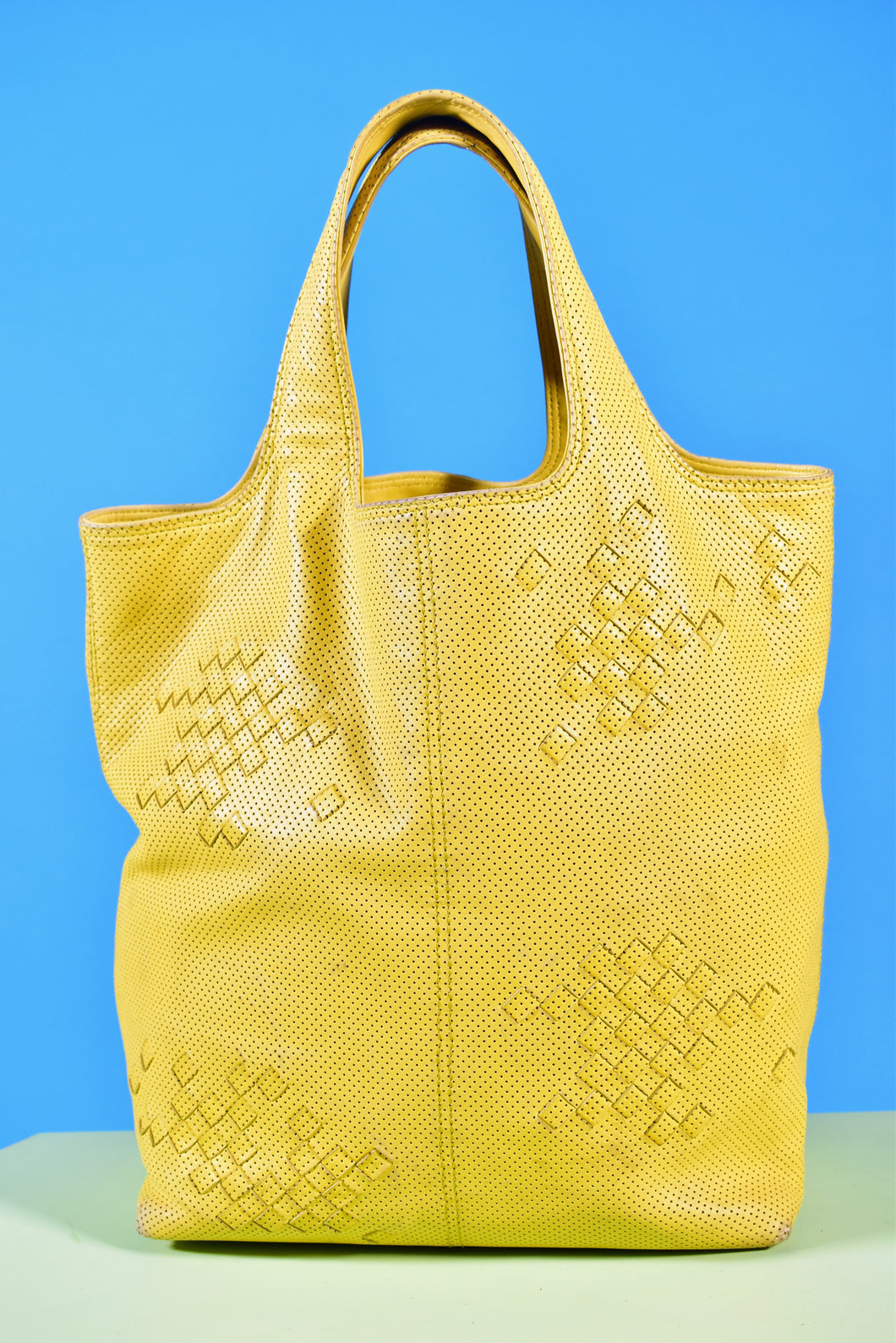 Vintage Bottega Veneta Yellow Handbag - Rianna In Berlin