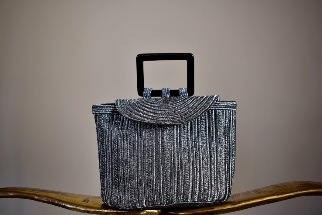 YSL Silver Handbag - Rianna In Berlin