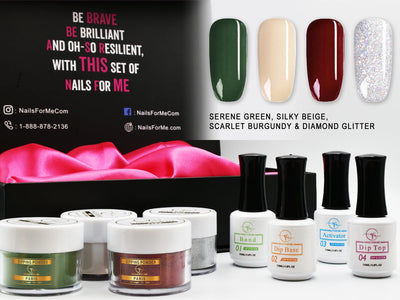 Premium Nail Dip Powder Starter Kit 4 Colors