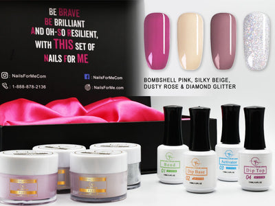 4 Colors Nail Dip Powder Kit