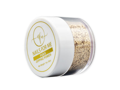 Golden glitter for nail dip powder