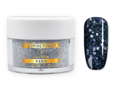 Navy Blue Nail Dip Powder Glitter
