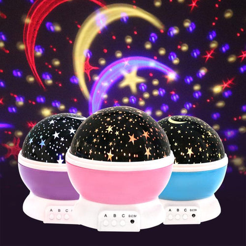 LED Starry Sky Night Light Projector - LED Night Lights - Multicolored LED Night Lights - rotating night light - rotating projection night light
