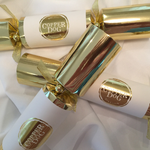 6 Gold and Ivory Branded Crackers