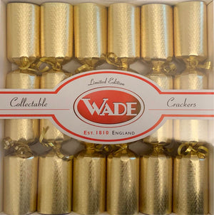 6 Wade Nursery Crackers - Gold
