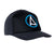 Kaiola Surf Hat - Pure Black with Blue