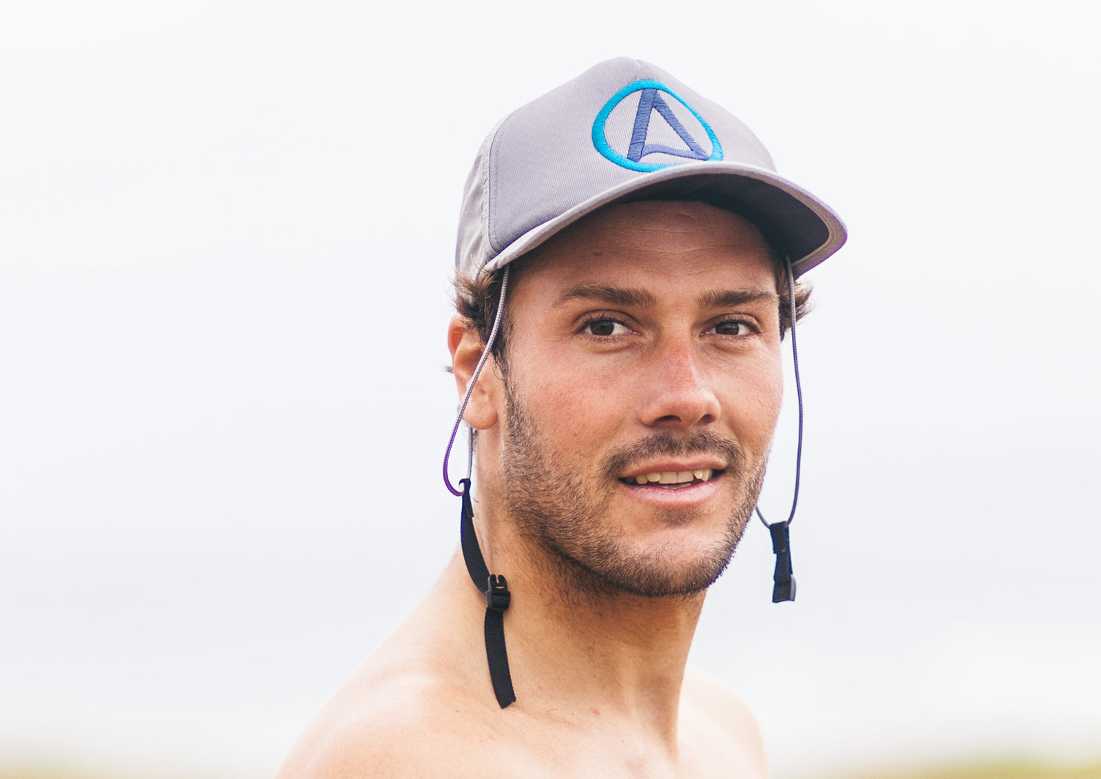 Kaiola Surf Hat Misty Grey with Blue