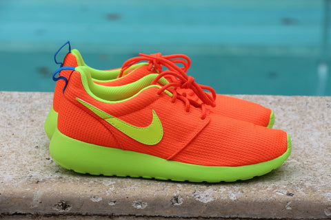 Nike Roshe Run GS Orange Lime