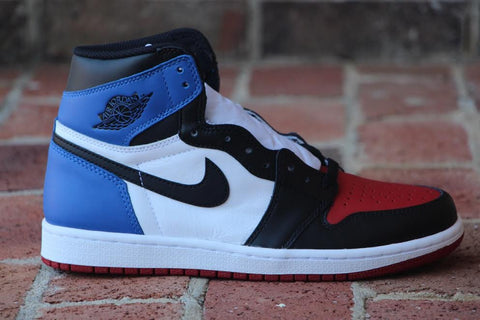 Nike Air Jordan I High Retro Top 3 555088 026 Black Toe Royal Banned Bred Freddy P FreddyP.com