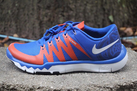 Nike Free Trainer 5.0 V6 AMP Florida Gators PE Blue Orange 723939-481 FreddyP.com Freddy P