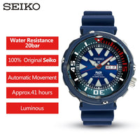 100% Original Seiko Padi Watch 20 Bar Water Resistance Automatic Men's Watch High Strength Resin Straps For Diver Swim SRPA83J1