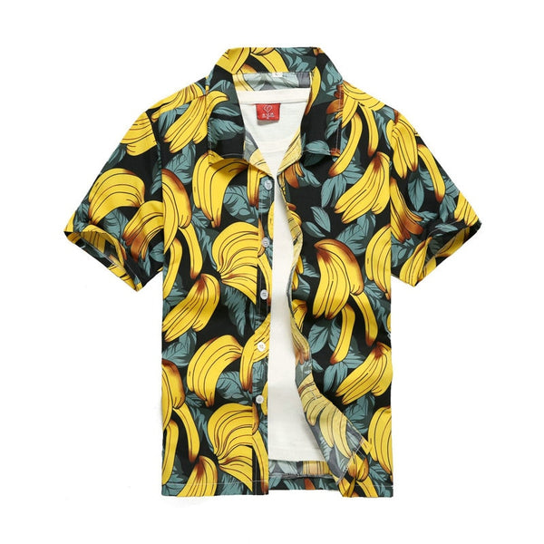 2019 Fashion Mens Short Sleeve Hawaiian Shirt Fast drying Plus Size Asian Size S 5XL Summer Casual Floral Beach Shirts For Men