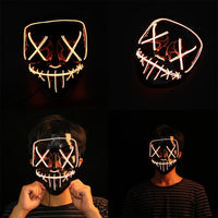 LED Mask Halloween Party Masque