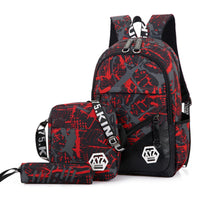 3pcs/Sets New Children School Bags Set Camouflage Kids Backpack Girls Boys Primary Student Book Bag Elementary Schoolbags