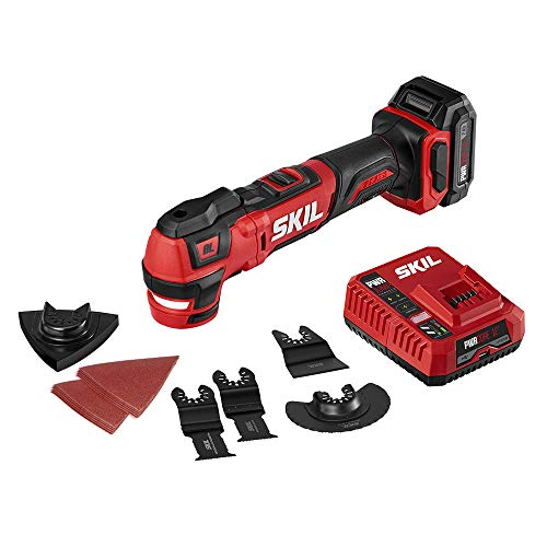 SKIL PWRCore 12 Brushless 12V Oscillating MultiTool, Includes 2.0Ah Lithium Battery and PWRJump Charger