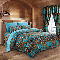Regal Comfort The Woods Sea Breeze Camouflage King 8pc
