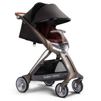 Baby stroller 2019 new simple installation 80cm high landscape can sit can lie down simple folding portable LED light stroller
