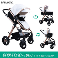 High Landscape Baby Stroller 3 in 1  Multi functional  Lightweight folding stroller EU stroller