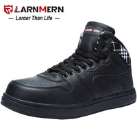 LARNMERN Men's Work Safety Shoes Steel Toe Lightweight Breathable Anti smashing Non slip Construction Protective Footwear