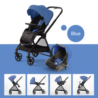 Lightweight Baby Stroller 3 in 1 Baby Car Basket Travel Poussette Kinderwagon Folding Four Wheel Stroller