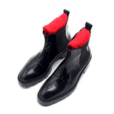 New Motorcycle Booties Man Footwear Mens Genuine Leather Shoes Thick Platform Masculine Boot Ankle Boots Sapato Masculino 3 5CM