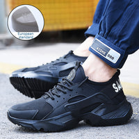 New exhibition Work Safety Shoes 2019 fashion sneakers Ultra light soft bottom Men Breathable Anti smashing Steel Toe Work Boots