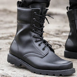Steel Toe Safety Shoes Us Military Leather Boots for Men Combat Boots Infantry Tactical Boots