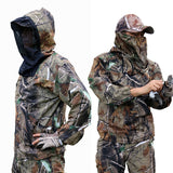Summer Ultra Thin Bionic Camouflage Suit Anti Mosquito Fishing Hunting Clothes Tactical Ghillie Suit Jacket Pants Set