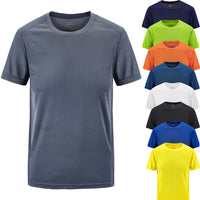 T shirt men's summer Casual T shirt 100% Cotton O Neck Outdoor sports fitness