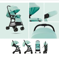 VIKI 4.35Kg Lightweight Baby Stroller Portable Baby Carriage Plane Travelling Pram Easy Folding Children Pushchair Free Shipping