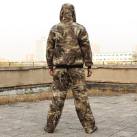 Winter Men Bionic Hunting Jacket Pants Suit Male Outdoor Tactical Military Clothes Sniper Fishing Fleece Camouflage Ghillie Sets