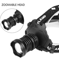 Z15 2064 XHP90 Led headlamp Headlight the most powerful 32W 90000lm head lamp zoom power bank 7800mAh 18650 battery