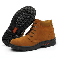 man shoes boots Cow suede Steel head anti smashing anti piercing Breathable Men Casual Outdoor Safety protective work shoes C219